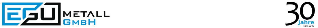 EGU-Metall - Laserschneiden, Blechbearbeitung, CNC Fräsen, Stanzen, Abkanten Logo