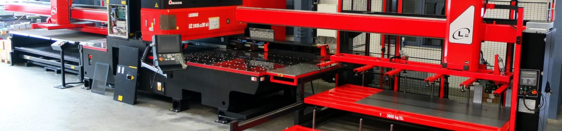 Automatisierte Laserschneidanlage